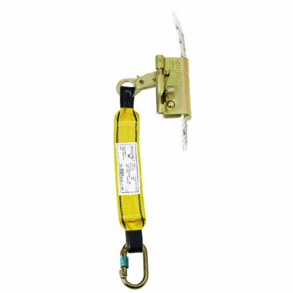 Anticaída Deslizante Para Cuerda 14/16mm Con Rop Stop+ Absorbedor Por Desgarre + Mosquetón 981