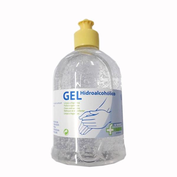 Gel Desinfectante Manos Hidro Alcohólico Botella 500ml Con Dosificador Cvt