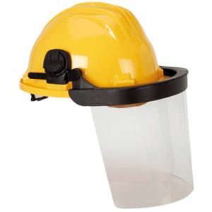 Casco Obra Blanco 5rg + Protector Facial Policarbonato Transparente