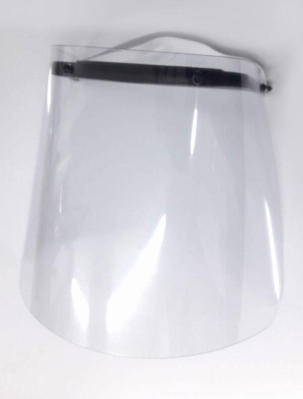 Protector Facial Fijo Pvc Incoloro Fijación A Cabeza C/Goma Elástica (En Cajas 10ud)