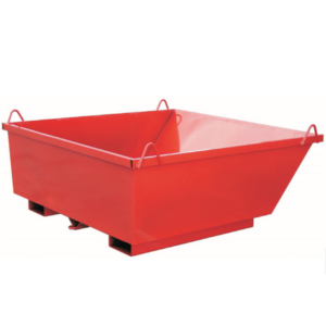 Batea Escombros Roja Caja Tierras 1500x1000x500mm Con Eslingas 500kg 695lt