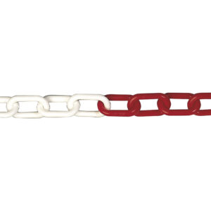 Cadena Plast. 8mm.Rojo/Blanco 25 mts