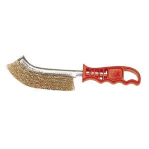 Cepillo Spid mgo. Plástico Rojo Púas Acero Latonadas