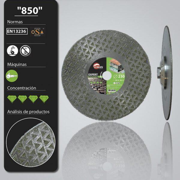Disco Diamante 115Turbo Ultra Porcelánico 115×1,2 Pastilla 7,5 mm 2 en 1 Corta y Pule