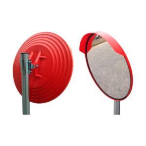 Espejo Vía Publica 60cm Exterior Con Visera Y Mecanismo Sujeción A Poste