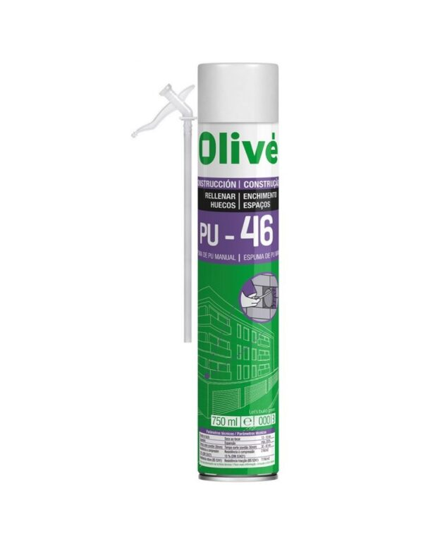 Espuma Poliuretano Spray 750ml Olive Pu460