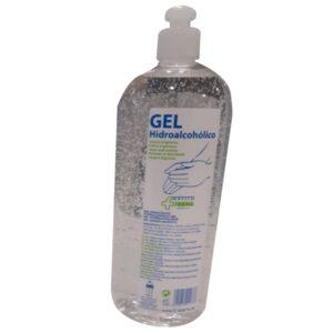 Gel Desinfectante Manos Hidroalcohólico Botella 1Lt Con Dosificador Cvt