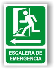 SEÑAL ESCALERA IZQUIERDA