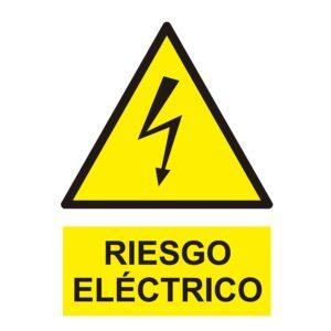 Señal Pvc 210×297 Din A4 Peligro Riesgo Eléctrico