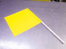 Bandera Señalista Color Amarillo 40×50