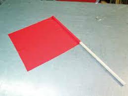 Bandera Señalista Color Rojo 40×50
