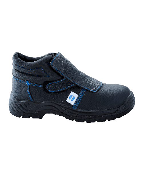 Bota Seg. Soldador Cierre Velcro Piel Negra Punt+ Plant Bidensidad s1 1050