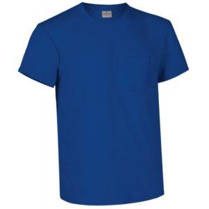 Camiseta Azul Manga Corta Serie 5000 1 Bolsillo Tallas