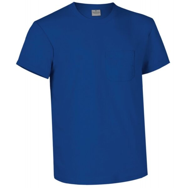 camiseta manga corta con bolsillo azul