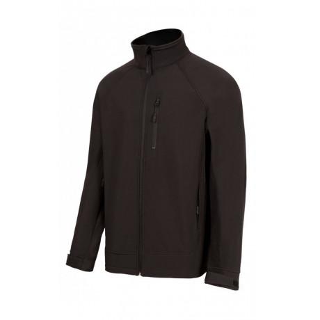 Chaqueta Softshell 3+2 Bolsillos Forro Interior y Membrana tpu – Color Negro