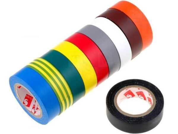 Cinta Aislante 19mm 20mts Colores
