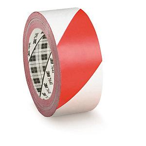 cinta senalizacion adhesiva blanca roja