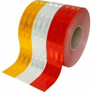 cinta senalizacion adhesiva reflectante blanco rojo