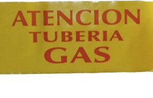 Cinta Señalización Gas 40cm 500mts Galga 400