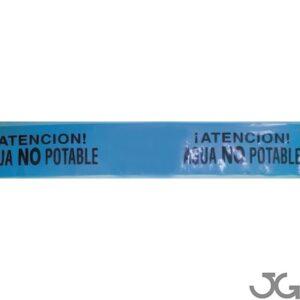 Cinta Señalización Tubería Agua No Potable g300 15cm 500mts Marrón