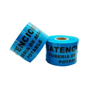 Cinta Señalización Tubería Agua Potable g300 15cm 500mts Azul