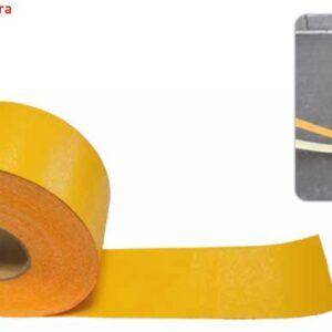 """Cinta Señalización Vial Amarilla Adhesiva """" Temporal """" 10cm Rollo 60mts ctv."""