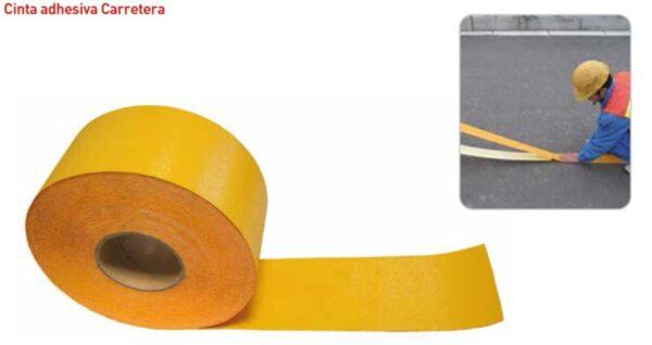 cinta senalizacion vial amarilla adhesiva