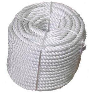 Cuerda Nylon 4 Cabos 18mm Rollo 50 mts