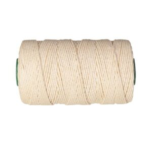 Cuerda Plomada Algodón 4 mm Rollo 100 mts