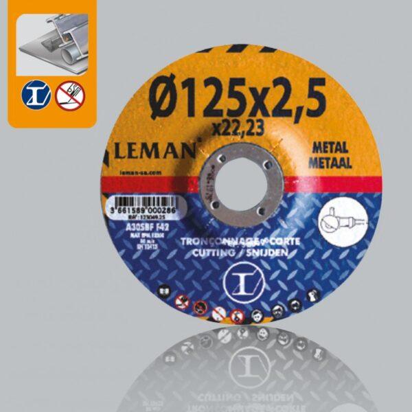 Disco Corte Acero 115×2.5 Leman Orange 113049.25