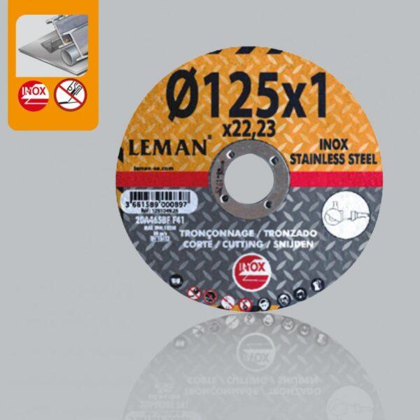 Disco Corte Acero 115×1.6 Inox Orange Leman 1151649.25