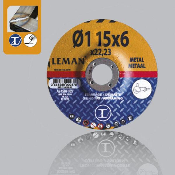 Disco Desbaste Acero 115×6 Leman