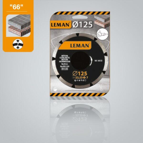 Disco Diamante 230 Pastilla 7mm Basic General Obra Segmentado Hormigón Leman Orange * 66230