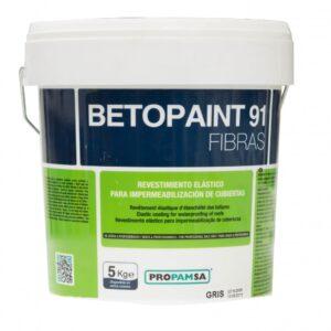 Pintura Impermeabilizante Elástica Con Fibras Betopaint 91 20kg Color Blanco