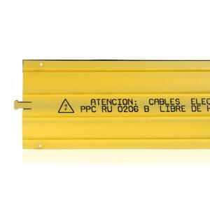 Placa Señalización Cables Eléctricos 1000×250 Pe Amarillo Impreso Negro ( Endesa )
