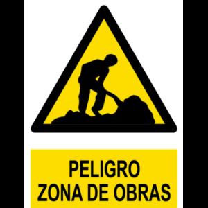 Señal Pvc 210×297 nº329 Din A4 Peligro Zona De Obras