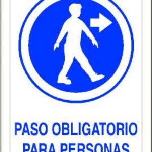 Señal Pvc 210×297 nº120 Din A4 Obligatorio Paso Personas Derecha