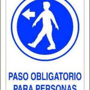 Señal Pvc 210×297 nº121 Din A4 Obligatorio Paso Personas Izquierda