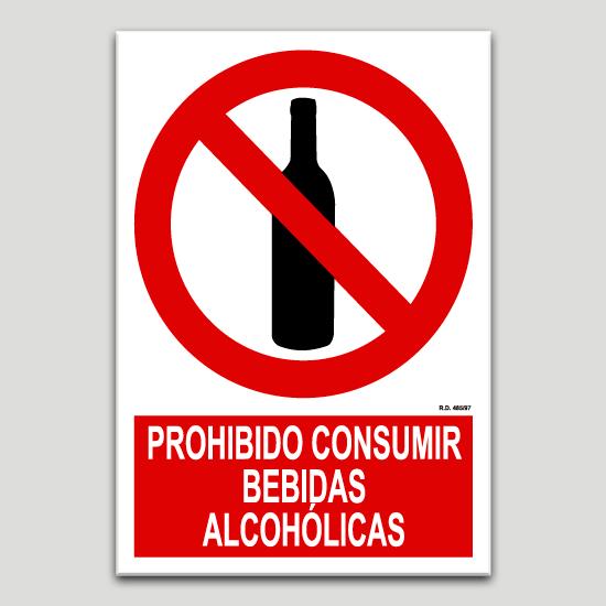 Señal Pvc 297×420 Din A3 Prohibido Beber Alcohol