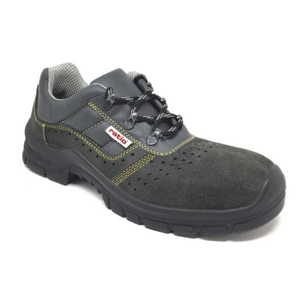 Zapato Seguridad Puntera Y Plantilla Serraje Perforado Mistral