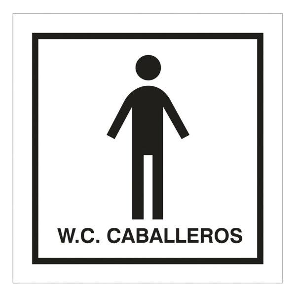 SEÑAL 100X100 ADHESIVA ASEOS CABALLEROS