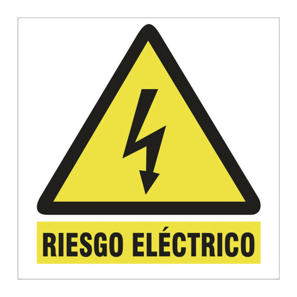 SEÑAL 100X100 ADHESIVA RIESGO ELECTRICO