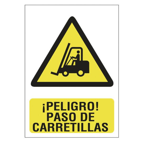 SEÑAL 210X297 PVC PELIGRO PASO CARRETILLAS