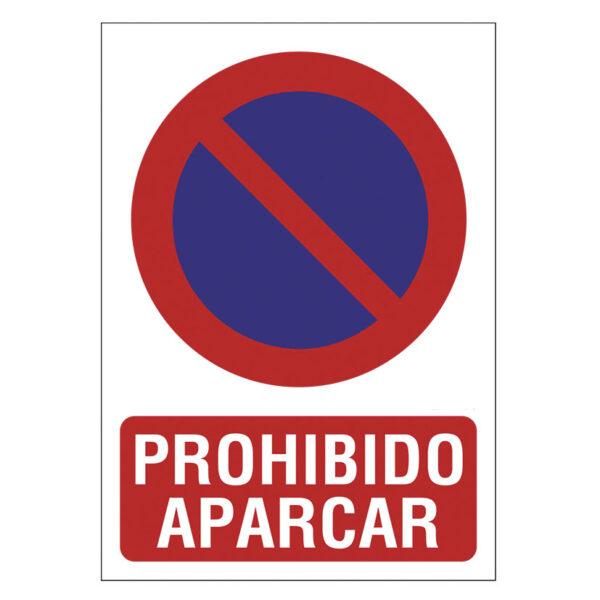 SEÑAL 210X297 PVC PROHIBIDO APARCAR
