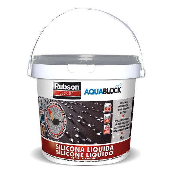 SILICONA LÍQUIDA AQUABLOCK 1 KG.GRIS