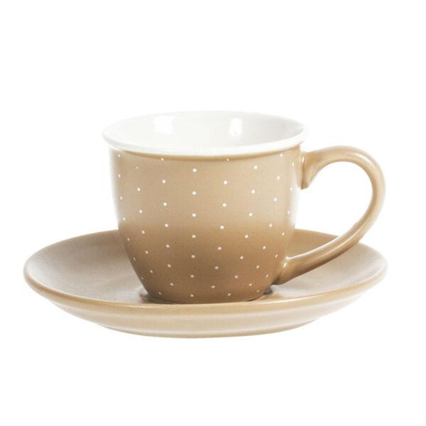 JUEGO. 4 TAZAS CAFE+PLATO CINNAMON 9 CL.